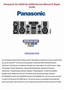 Panasonic Sc Vk82d Sa Vk82d Service Manual Re By