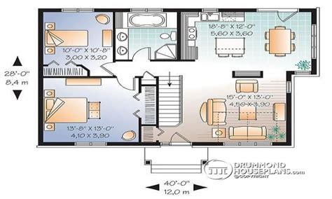 Home Design Level 41 : 2 Bedroom Single Level House Plan Split-level Teen