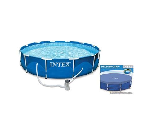 Intex 6 Foot Pool Cover by Intex 10 X 2 5 Foot Frame Swimming Pool Set With Filter