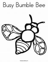Bee Coloring Bumble Busy Built California Usa sketch template