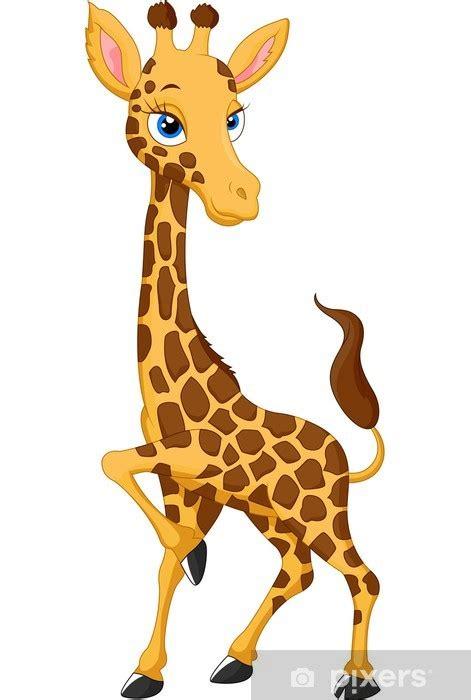 aufkleber cartoon giraffe pixers wir leben um zu