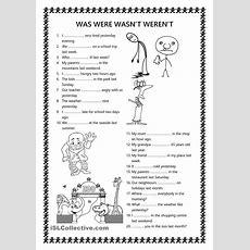 Was Were Wasnt Werent  Esl Worksheets Of The Day  Pinterest  Worksheets, Esl And English Grammar