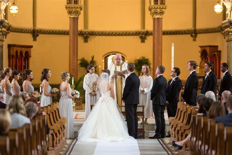 traditional chicago catholic church wedding ceremony