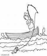 Coloring Boat Fishing Printable Ferry Cool2bkids Getcolorings Getdrawings Row Patrol sketch template