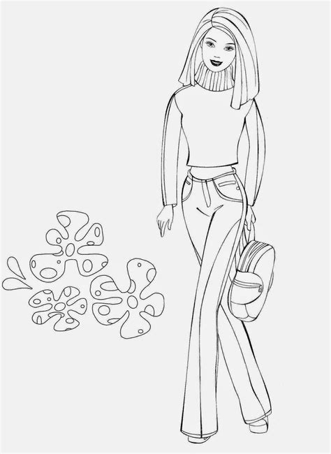 coloring pages barbie  printable coloring pages