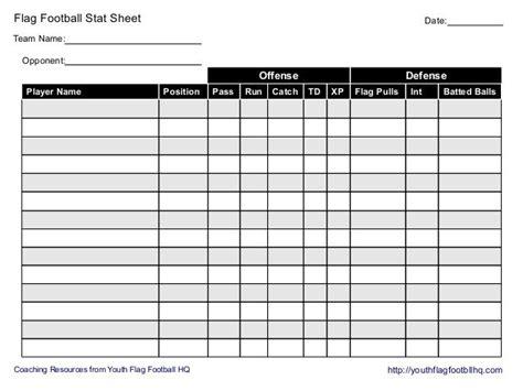 flag football stat sheet flag football soccer scores