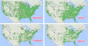 cell phone coverage map comparison the best carriers for most business insider
