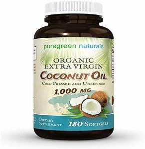 Coconut Oil Capsules 1000 Mg Organic Extra Virgin 180 Softgels For Hair Skin