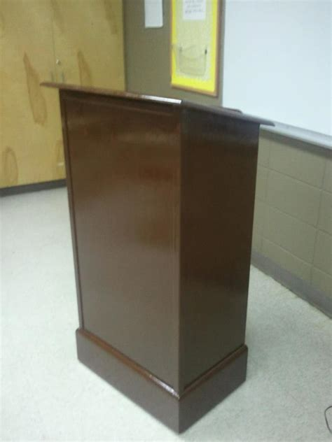 ana white podium   wifes classroom diy projects