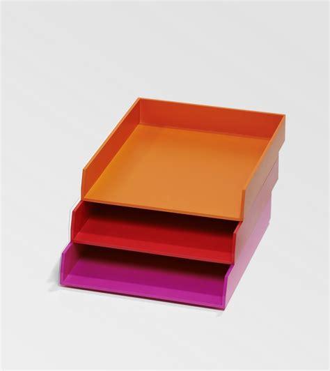 bannettes de bureau orange et pour le rangement kollori