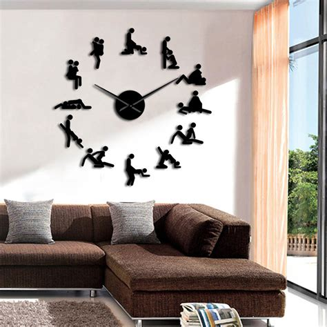 piece bachelorette naughty game wall clock diy large
