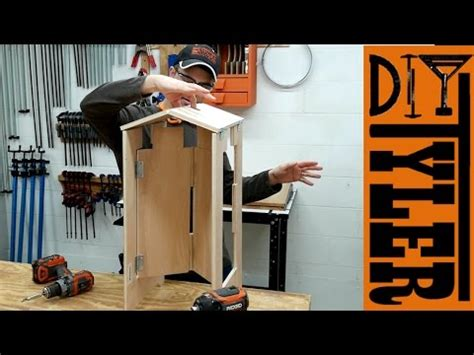 folding plywood stool  super functional project youtube