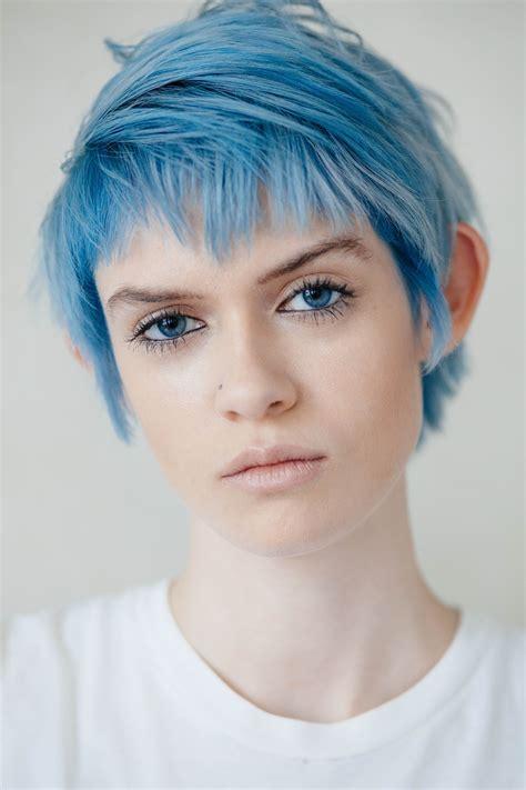 Pastel Blue Pixie Amandahs Cut Me Color Me Brade Me