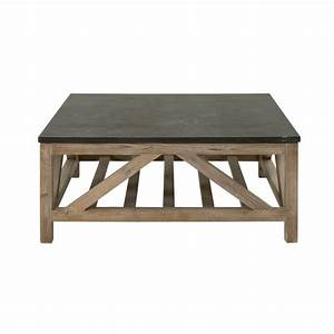 blue stone square coffee table With square stone top coffee table