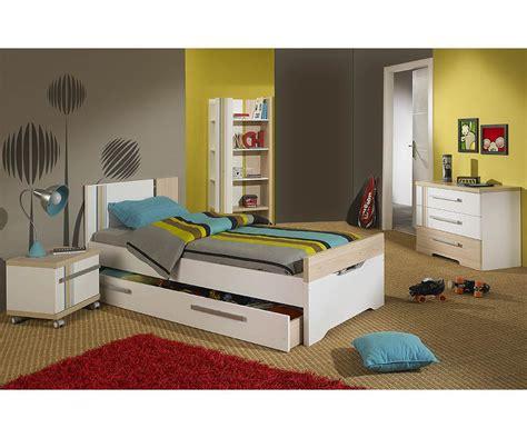 chambre enfant chambre enfant bora blanche et bois set de 4 meubles