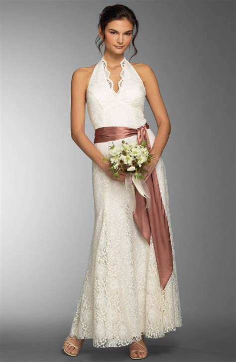 ankle wedding dress casual summer ankle length wedding dress with sash sang