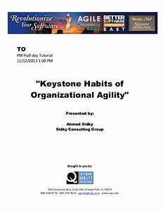 Keystone Habits of Organizational Agility