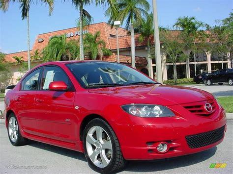 2005 Velocity Red Mica Mazda Mazda3 S Sedan #6737944