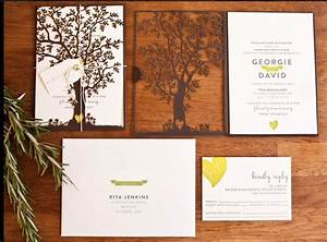 die cut tree wedding invitations wedding stationary With tree slice wedding invitations