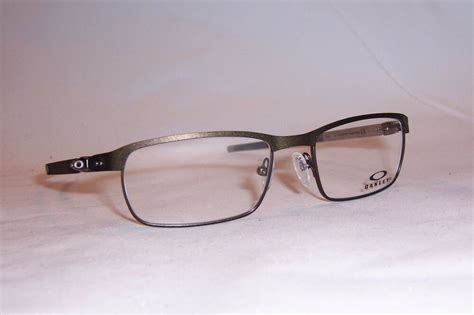 new oakley eyeglasses tincup ox 3184 3184 02 pewter 52mm rx authentic 318402 ebay