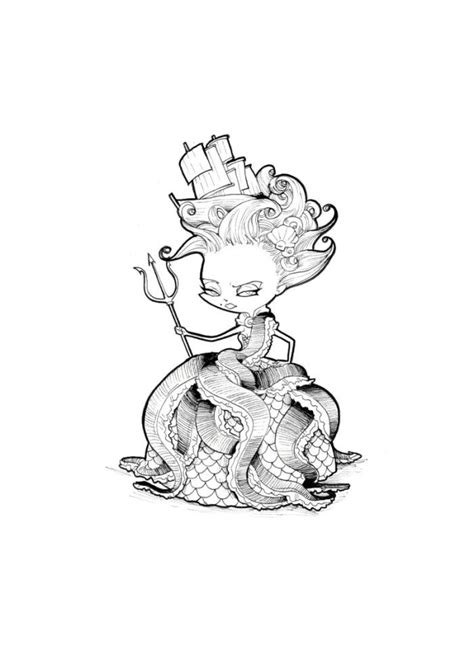Ludovic Salle - Little Witch Of The Seas | Chibi, Art, Witch