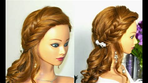 Curly Prom Hairstyle For Long Hair With Braids