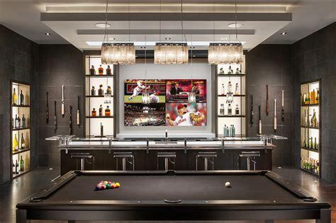 Minimalist Mountainside-contemporary-home Bar