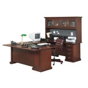 Sauder Heritage Hill Large Executive Desk Hutch by Sauder Heritage Hill U Shaped Desk Hutch