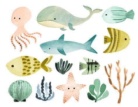 Ocean Clipart, Sea Clipart, Ocean Animals Clipart