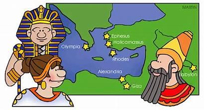 History Clipart Clip Ancient Class Wonders Civilizations