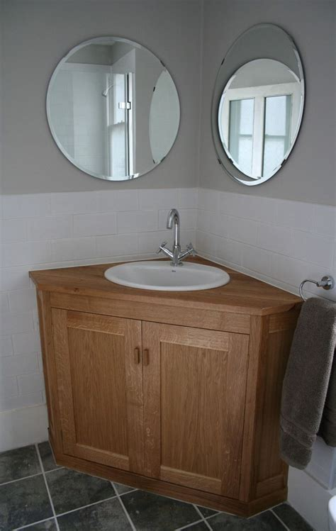 corner oak wooden vanity furniture  modern white