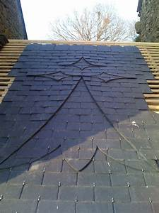 dessin sur toiture ardoise
