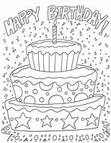 Coloring Birthday Happy Pages sketch template