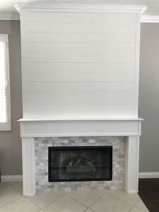 Shiplap, And, Marble, Tile, Fireplace