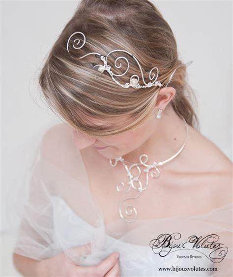 accessoires coiffure mari 233 e originale bijou de t 234 te diad 232 me tiare bijoux volutes mariage