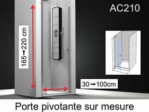 Paroi de douche longueur 60 porte de douche 60 x 195 cm for Porte de douche pivotante sur mesure