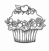 Cupcake Coloring Cupcakes Pages Printable Birthday Berry Cherry Fruit Happy Colouring Print Cakes Library Clipart Popular Netart Kleurplaat Clip Coloringhome sketch template