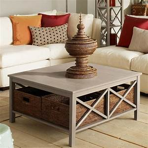 Saltire large square coffee table with storage oka for Oversized coffee table with storage