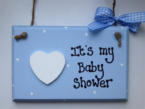 My In The Shower by Blue It S My Baby Shower Wooden Plaque