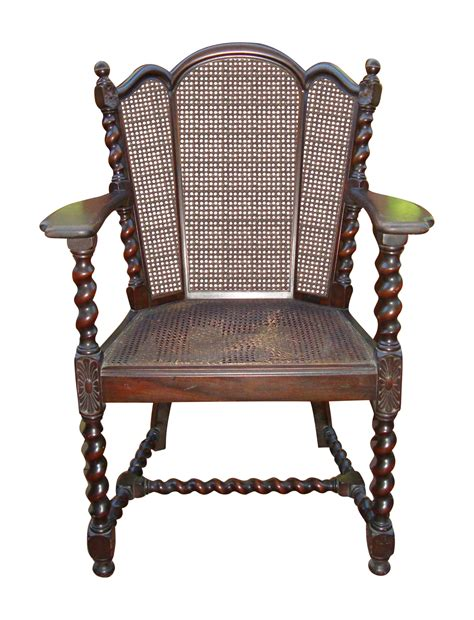 Antique Victorian Jacobean Barley Twist Cane Chair Chairish