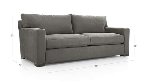 Crate And Barrel Axis Sofa Dimensions by Axis Ii Grey Microfiber Sofa Crate And Barrel