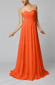 tangerine simple sheath sweetheart zip up sweep train With tangerine dresses for wedding