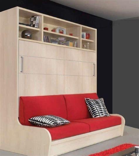 lit escamotable canap armoire lit transversal autoporteur canape etageres