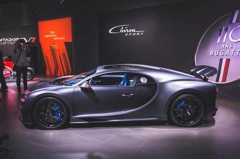 bugatti celebrates  anniversary  chiron sport