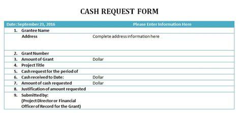 cash request slip template excel  formats