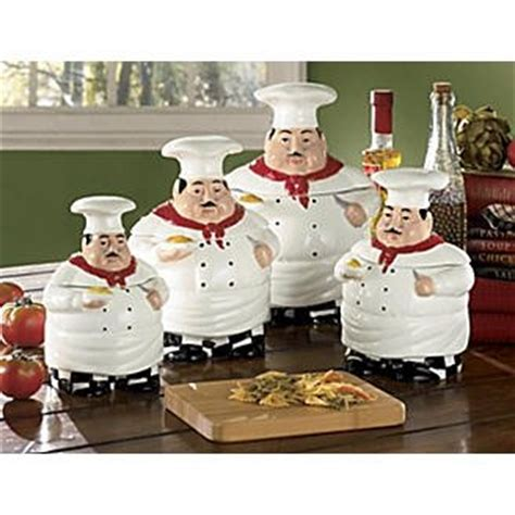 of fat chef kitchen canister set of 4 beautiful fat chef