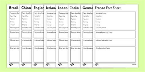 countries factsheet writing templates teacher