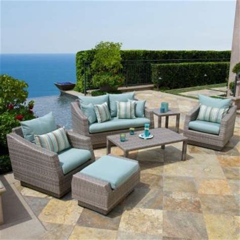 rst brands cannes 6 patio seating set with bliss