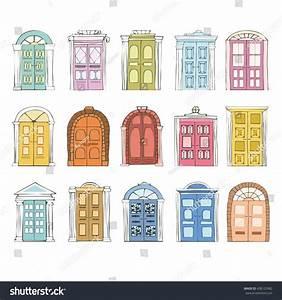 Doodle Doors Vector Set Hand Drawn Stock Vector 438123982 ...