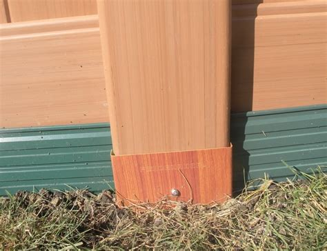 Vinyl Fence Post Protection  Fence Armor  Fence Guards